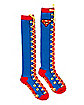 Lace Up Superman Knee High Socks - DC Comics