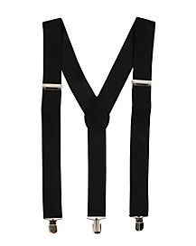 Jet Black Suspenders