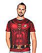 Caped Robin Costume T Shirt - DC Comics
