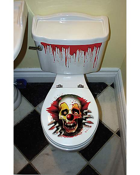 Enjoyable Creepy Carnival Toilet Seat Cover Spirithalloween Com Ibusinesslaw Wood Chair Design Ideas Ibusinesslaworg