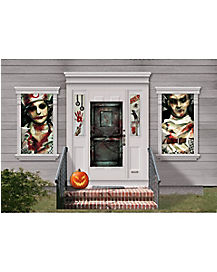 asylum window kit decorations