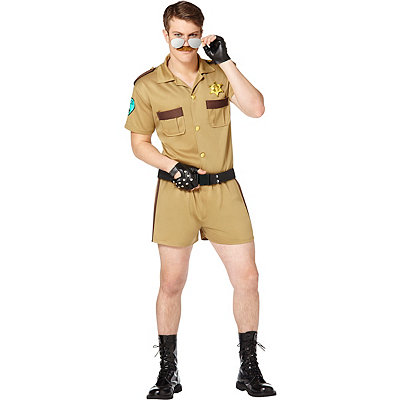Adult Sergeant Short Pants Cop Costume