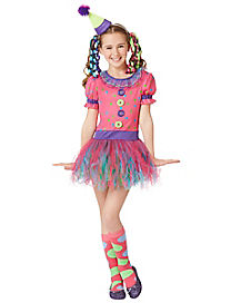 Kids Trolly Lolly Clown Costume