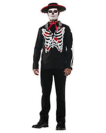 Adult Senor Death Day of the Dead Costume