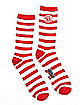 Striped Where's Waldo Crew Socks - Where's Waldo