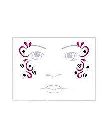 Kids Zebra Fairy Face Tattoo Decal