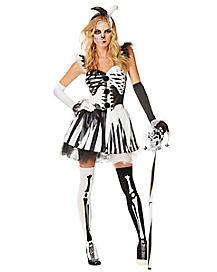 Adult Skelequin Costume