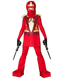 Kids Red Ninja Fighter Costume