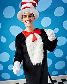 Adult Cat in the Hat One Piece Costume - Dr. Seuss