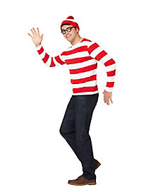Adult  Where's Waldo Costume - Where's Waldo