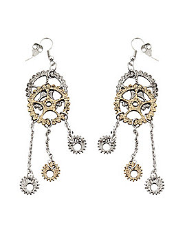 Steampunk Gear Dangle Earrings