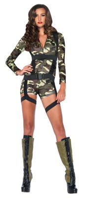 Adult Going Commando Military Costume  sc 1 st  Spirit Halloween & Adult Sexy SWAT Costume - Spirithalloween.com