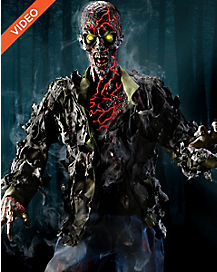 6 Ft Smoldering Zombie Animatronics - Decorations