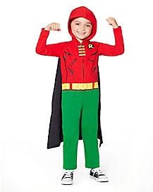 Toddler Hooded Robin Coveralls Costume - Batman