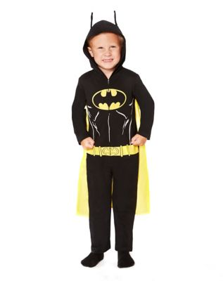 BATMAN HOODED COVERALL TODDLER COSTUME