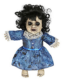 14 Inch Lost Lizzy Blue Haunted Doll - Decorations