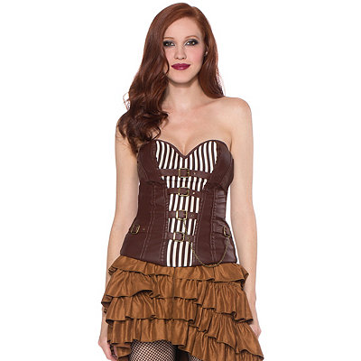 Steampunk Corsets and Belts Front Buckle Corset $29.99 AT vintagedancer.com