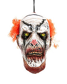 Zombie Clown Hanging Head - Decorations