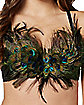 Peacock Feather Bra