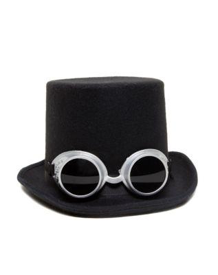 Steampunk Hats | Top Hats | Bowler Steampunk Top Hat by Spirit Halloween $16.99 AT vintagedancer.com
