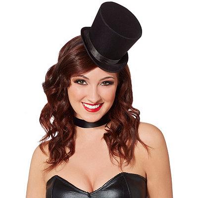 Victorian Steampunk Clothing & Costumes for Ladies Black Mini Top Hat Fascinator $9.99 AT vintagedancer.com