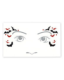 Kids Vampire Face Tattoo Decal