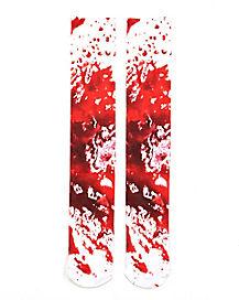 Blood Splatter Knee High Socks