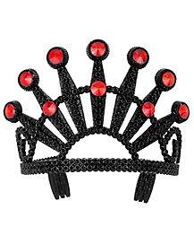 Red Stoned Black Tiara
