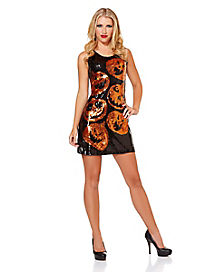 Sequin Pumpkin Dress