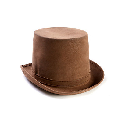Men's Victorian Costume and Clothing Guide Brown Top Hat - Deluxe $14.99 AT vintagedancer.com
