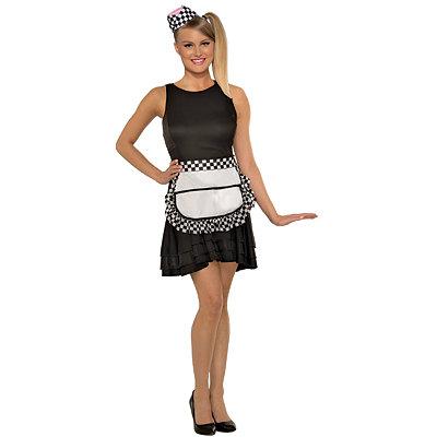 Pin Up Dresses | Pin Up Clothing 50s Waitress Apron $12.99 AT vintagedancer.com