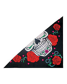 Day of the Dead Sugar Skull Bandana