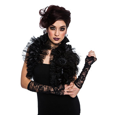 Victorian Steampunk Clothing & Costumes for Ladies Gothic Shrug $16.99 AT vintagedancer.com