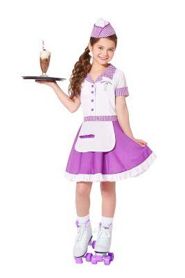 60s 70s Kids Costumes & Clothing Girls & Boys Kids Soda Pop Cutie Waitress Costume by Spirit Halloween $29.99 AT vintagedancer.com