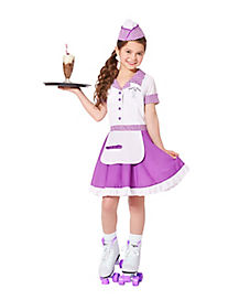 Kids Soda Pop Cutie Waitress Costume