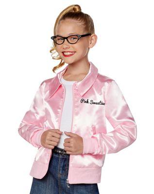 Poodle Skirts | Poodle Skirt Costumes, Patterns Kids Pink Jacket by Spirit Halloween $24.99 AT vintagedancer.com