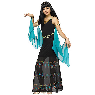Roaring 20s Costumes- Cheap Flapper Dresses, Gangster Costumes Kids Egyptian Queen Costume $39.99 AT vintagedancer.com