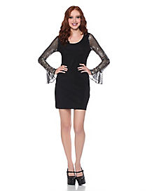 Adult Spider Web Sleeve Dress