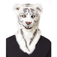 Moving Mouth White Tiger Mask