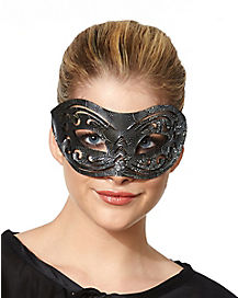 Black and Silver Eye Mask