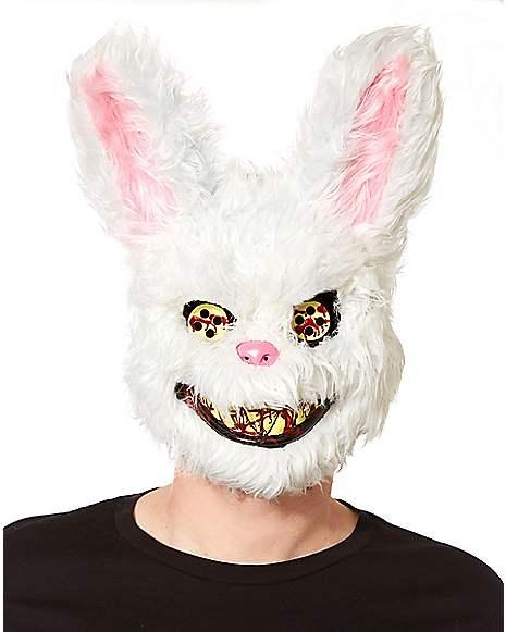Scary Fluffy White Bunny Mask Spirithalloweencom