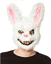 Scary Fluffy White Bunny Mask