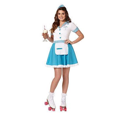 Pin Up Dresses | Pin Up Clothing Adult Car Hop Costume $39.99 AT vintagedancer.com