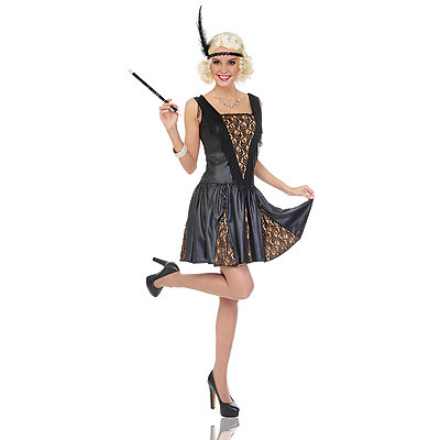 1920s Style Costumes Adult Peek A Boo Flapper Costume $39.99 AT vintagedancer.com