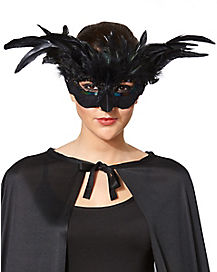 Black Feather Owl Mask