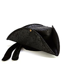 Adult Black Pirate Hat
