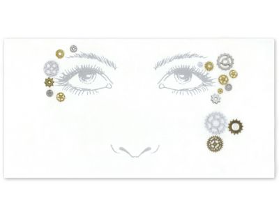 Steampunk Jewelry – Necklace, Earrings, Cuffs, Hair Clips Steampunk Face Tattoo Decal by Spirit Halloween $5.99 AT vintagedancer.com