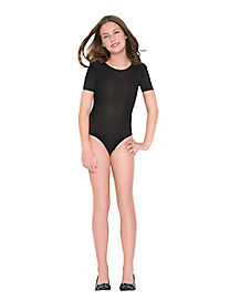 Black Capped Sleeve Bodysuit