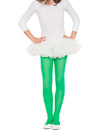Kids Solid Green Tights