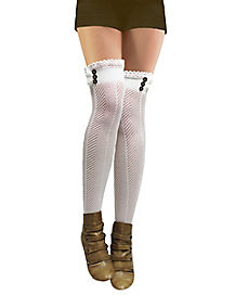 Crochet Steampunk Thigh High Stockings